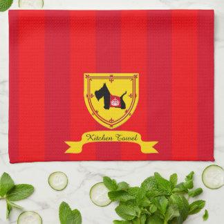 Scottie No 8 Royal Crown Hand Towel
