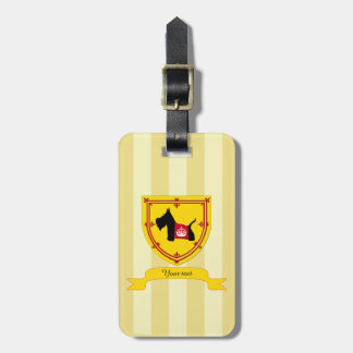 Scottie No 8 Royal Crown Tag For Bags