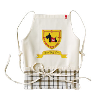 Scottie No 8 Royal Crown Zazzle HEART Apron