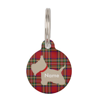Scottie No 8 Wheaten Pet Name Tag