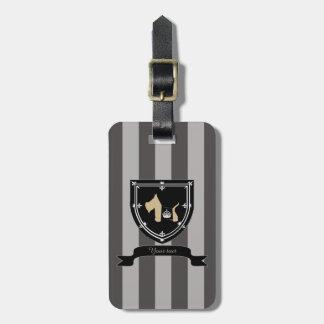Scottie No 8 Wheaten Royal Crown Bag Tags