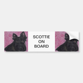 SCOTTIE ON BOARD OR CHOOSE YOUR TEXT CAR STICKER