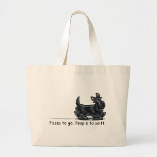Scottie People To Sniff Large Tote Bag