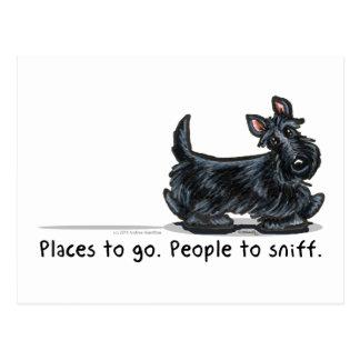 Scottie People To Sniff Postcard