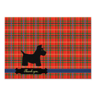 "Scottie Plaid Personalized Cards 5"" X 7"" Invitation Card"