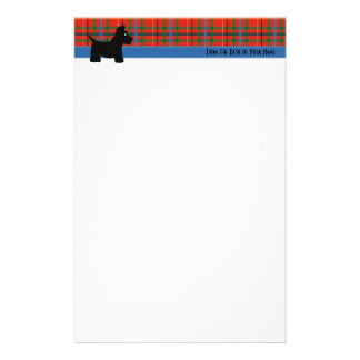 Scottie Plaid Writing Paper Custom Stationery