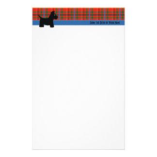 Scottie Plaid Writing Paper Custom Stationery
