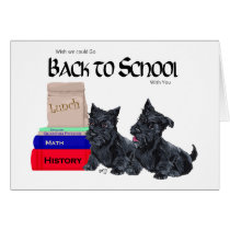 Scottie Puppies Back to School Card
