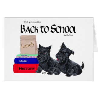 Scottie Puppies Back to School Greeting Card