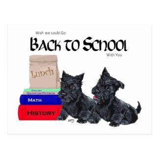 Scottie Puppies Back to School Postcard