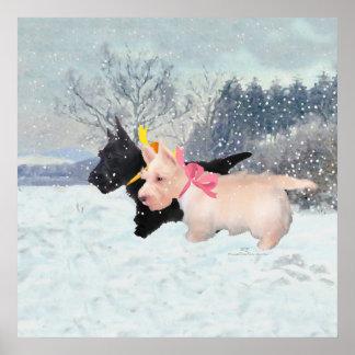 Scottie Puppies Poster