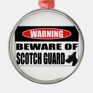 SCOTTIE SCOTCH GUARD METAL ORNAMENT