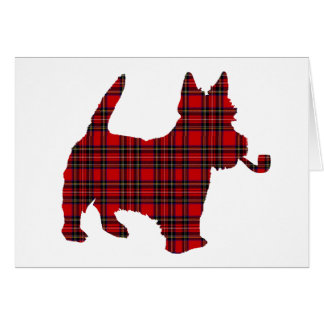Scottie Scots Terrier Tartan Dog Greeting Card