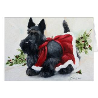 Scottie Scottish Terrier Dog Merry Christmas Card