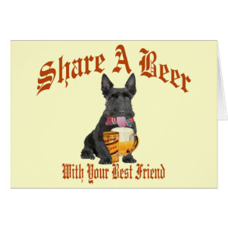 Scottie Shares A Beer Card