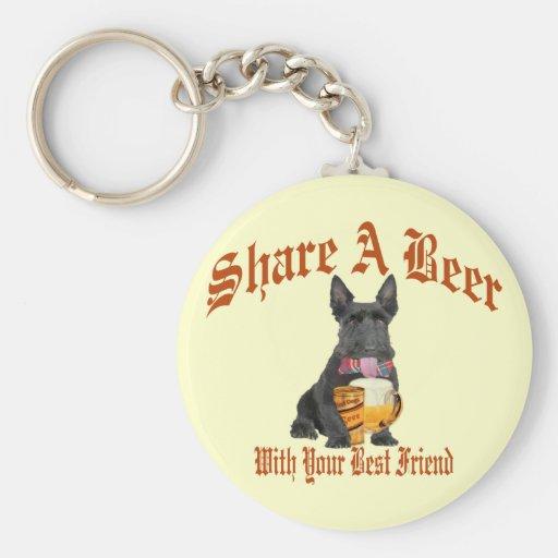 Scottie Shares A Beer Keychain