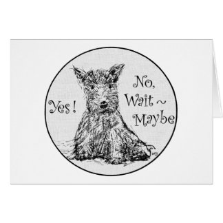 Scottie Sketch - Indecision Greeting Card