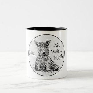 Scottie Sketch - Indecision Two-Tone Coffee Mug