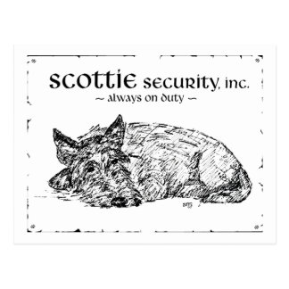 Scottie Sketch - Security? Postcard