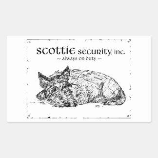 Scottie Sketch - Security? Rectangular Stickers