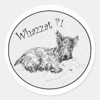 Scottie Sketch - Whazzat? Stickers