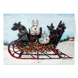 Scottie Sleigh Ride Card