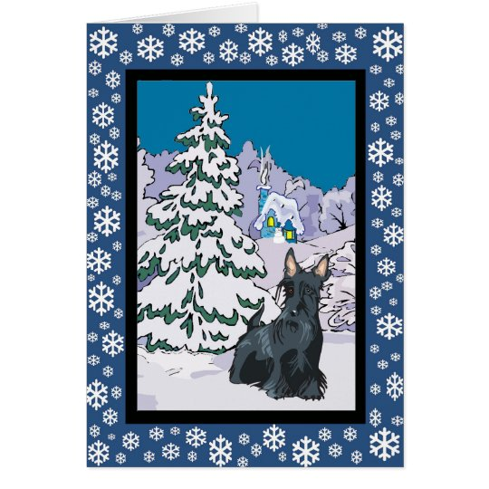Scottie Snowy Winter Card