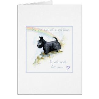 Scottie sympathy card greeting card