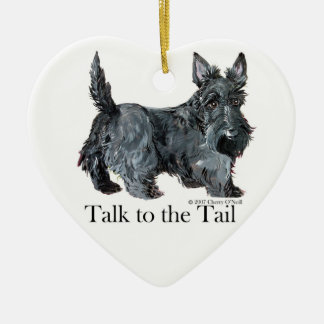 Scottie Talk to the Tail Christmas Ornaments