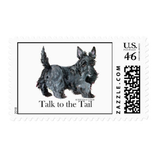Scottie Talk to the Tail Postage Stamps