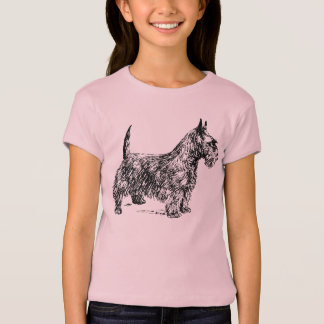 SCOTTIE TERRIER DOG Cap Sleeve T-Shirt