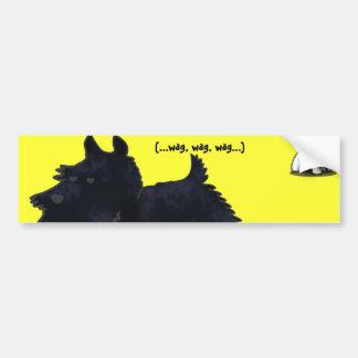 Scottie (...wag, wag, wag...) bumper sticker