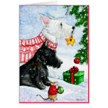 Scottie, Westie and Mr Mouse Card