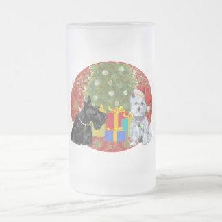 Scottie Westie Christmas Coffee Mugs