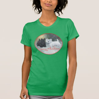Scottie Westie  Christmas Tee Shirt