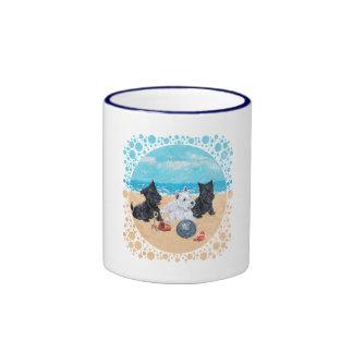 Scottie Westie Pups at the Beach Mug