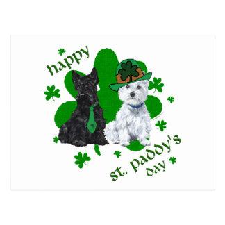 Scottie & Westie St. Paddy's Day Post Cards