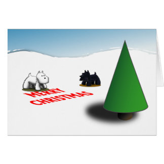 Scottie/Westie Tannenbaum Greeting Card