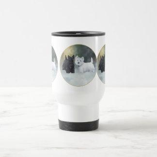 Scottie Westie Wintertime Travel Mug