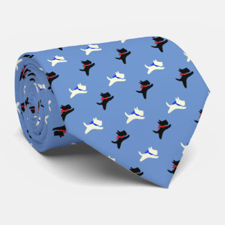 Scotties At Play Personalize Neck Tie