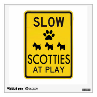 Scotties at Play Wall Decal