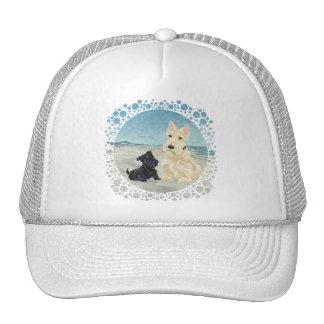 Scotties at the Beach, Wheaten & Black Pup Trucker Hat