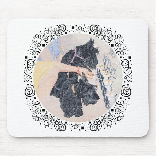 Scotties Lighting Candles Mouse Pad