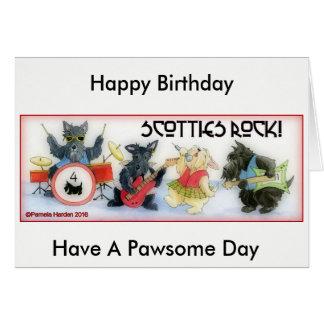 Scotties Rock Birthday Card