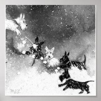 Scotties Snow Fight Poster