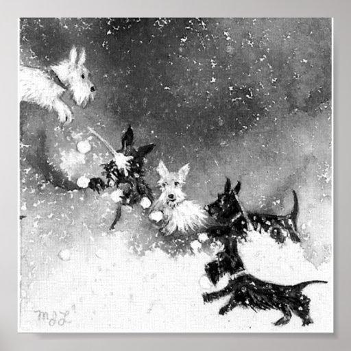 Scotties Snow Fight Posters