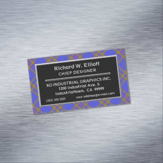 Scottish Accent Clan Elliot Elliott Tartan Business Card Magnet
