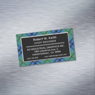 Scottish Accent Clan Keith Tartan Business Card Magnet