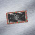 Scottish Accent Clan MacAlister Tartan Business Card Magnet