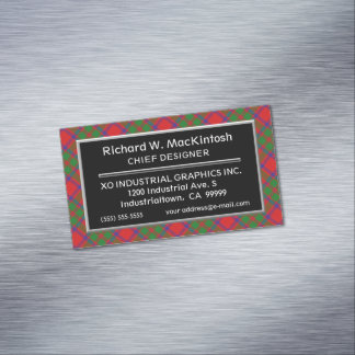 Scottish Accent Clan MacKintosh Tartan Business Card Magnet